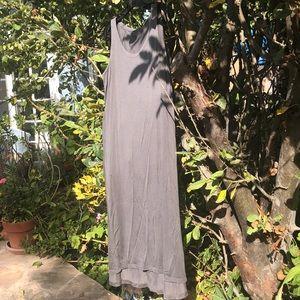 Eileen Fisher maxi grey dress medium